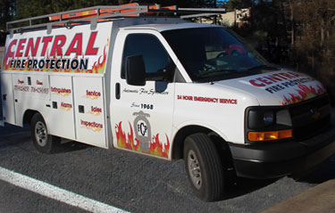 Central Fire protection service truck